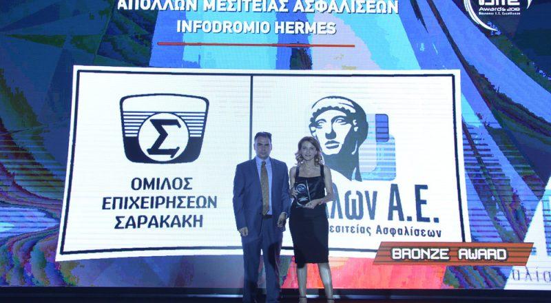 Απόλλων Μεσιτείας Ασφαλίσεων: Βραβείο για την πλατφόρμα Infodromio HERMES