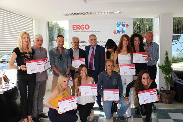 "ERGO Ασφαλιστική: Απένειμε στην ομάδα της Περιφέρειας Κρήτης το ""εισιτήριο συμμετοχής"" στον Αγώνα Δρόμου 3χλμ. ERGO"