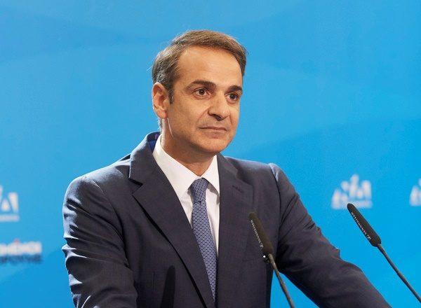 Ο Πρωθυπουργός Κυριάκος Μητσοτάκης στην τηλεδιάσκεψη του Ε.Ε.Α.