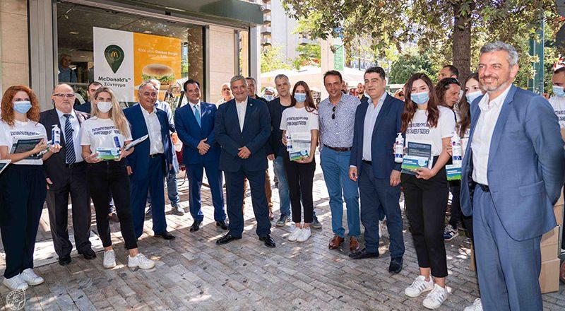 Διανομή υγειονομικού υλικού από το Ε.Ε.Α. σε επιχειρήσεις του κέντρου της Αθήνας – Συνεργασία του Επιμελητηρίου με την Περιφέρεια Αττικής