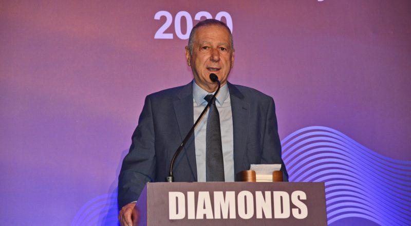 Στα Diamonds Awards τιμήθηκε ο πρόεδρος της ΕΘΝΙΚΗΣ Χριστόφορος Σαρδελής