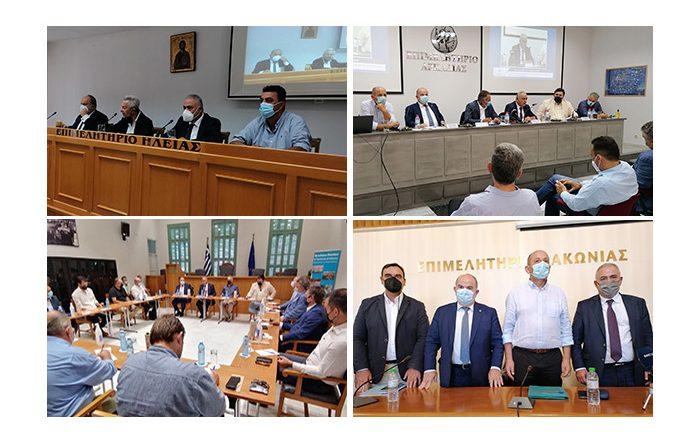 Περιοδεία του Προέδρου της ΚΕΕΕ στους πυρόπληκτους Νομούς της Πελοποννήσου